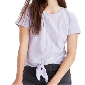 Madewell Modern Tie Front short sleeve Tee (L1/7)